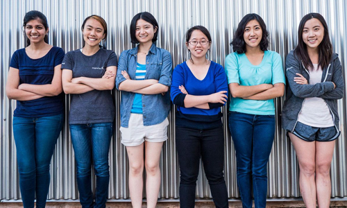 Team Tactile (L-R): Chandani Doshi, Jialin Shi, Bonnie Wang, Charlene Xia, Tania Yu and Grace Li. (IMAGE: COURTESY OF TEAM TACTILE)